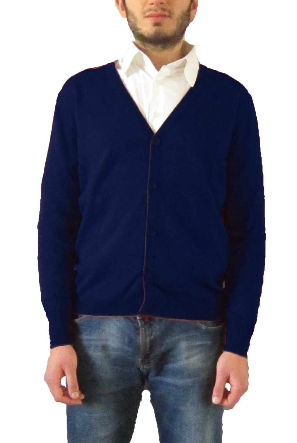 Cardigan with Buttons - Blue