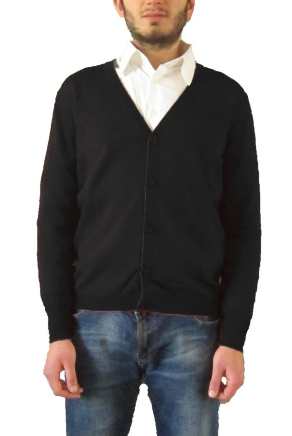 Cardigan con Bottoni Nero - Black Cardigan with Buttons