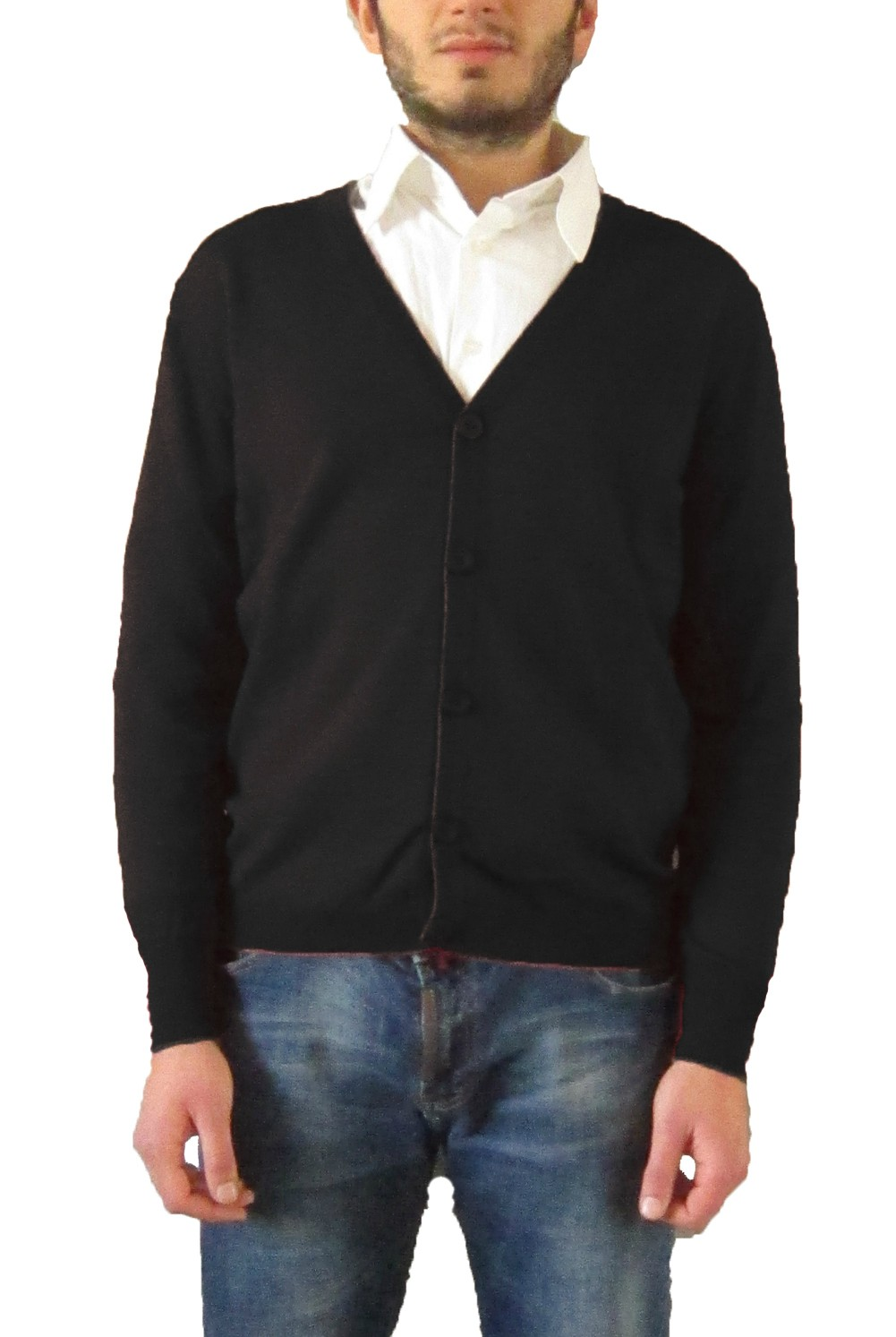 Cardigan with Buttons - Black
