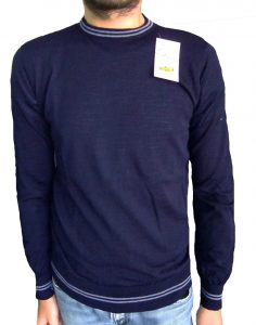 Sweater with Little Stripes - Blue