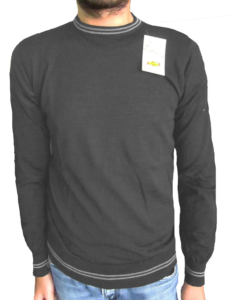 Maglia Righino Grigio- Grey Sweater with Little Stripe