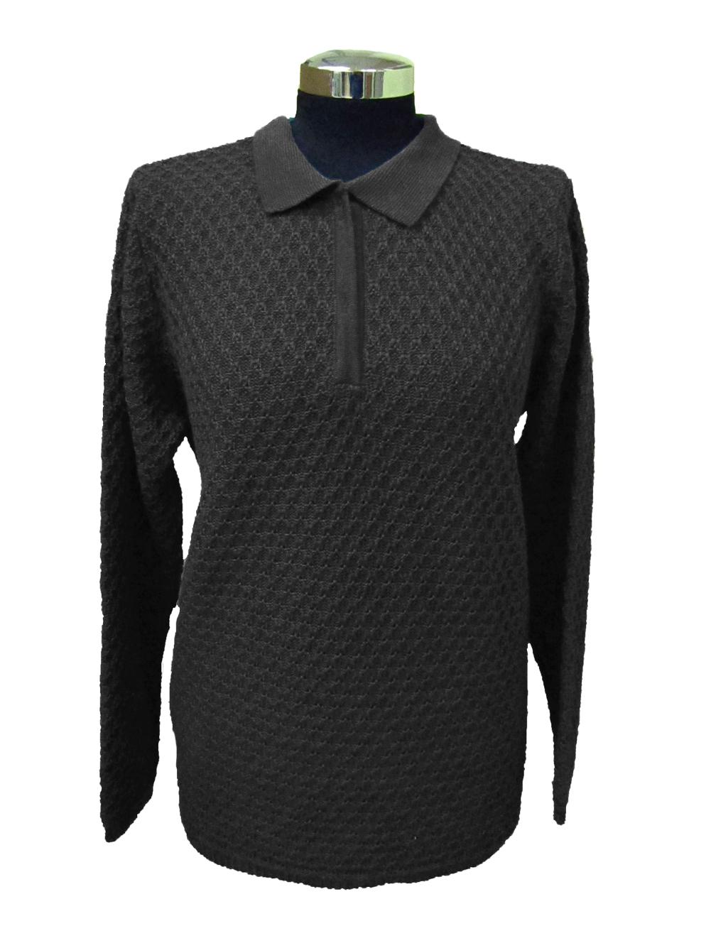 Maglia Polo Lavorazione 11 Grigia - Grey Polo Sweater Work 11
