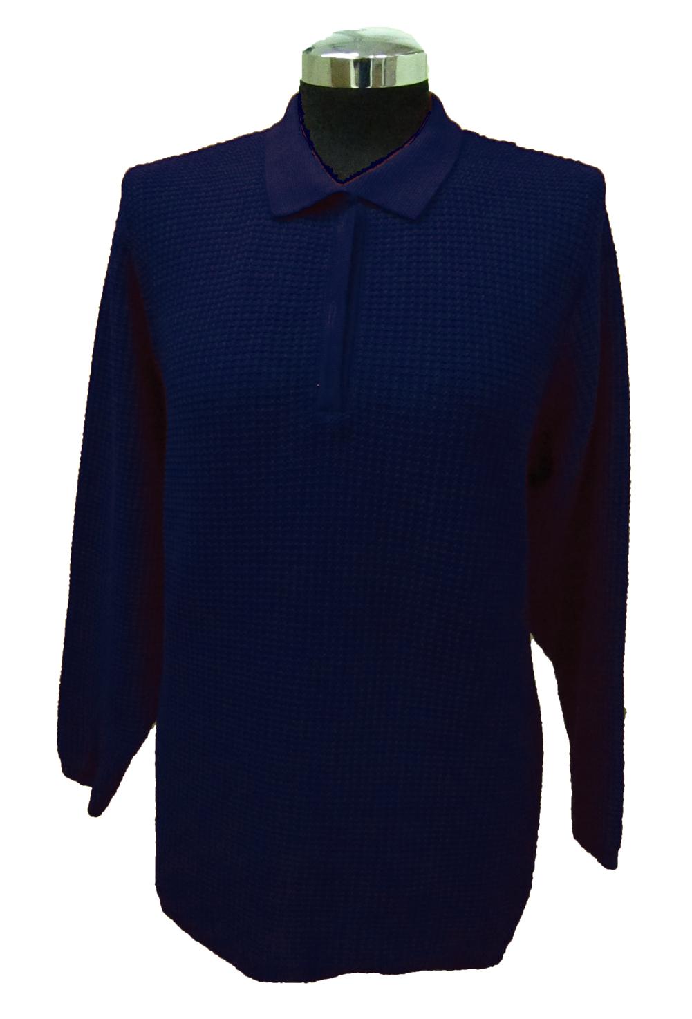 Maglia Polo Lavorazione 13 Blu - Blue Polo Sweater Work 13