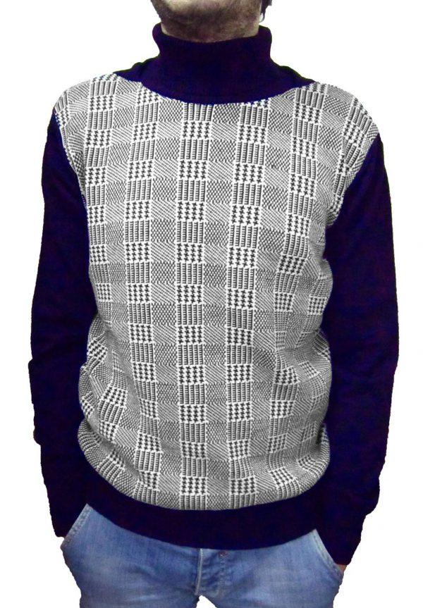 Maglia Lavorazione 9 Blu(Principe di Galles) - Blue Sweater Work 9 (Prince of Galles)