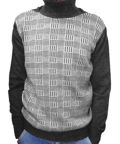 Maglia Lavorazione 9 Grigia(Principe di Galles) - Grey Sweater Work 9 (Prince of Galles)