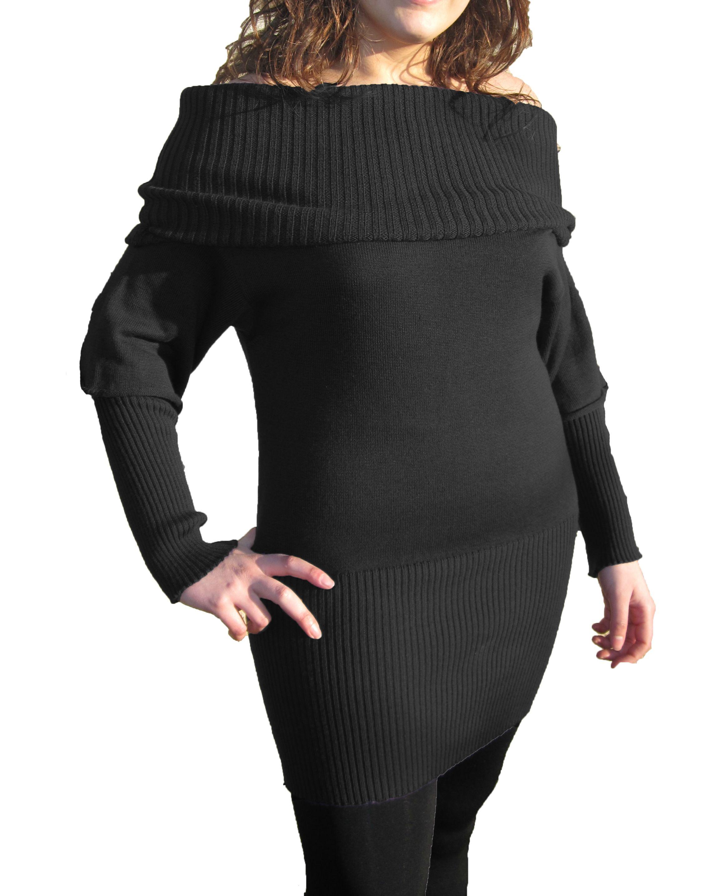 huge discount 21351 68975 vestito-maglia-nero - Maglificio ElleCreazioni
