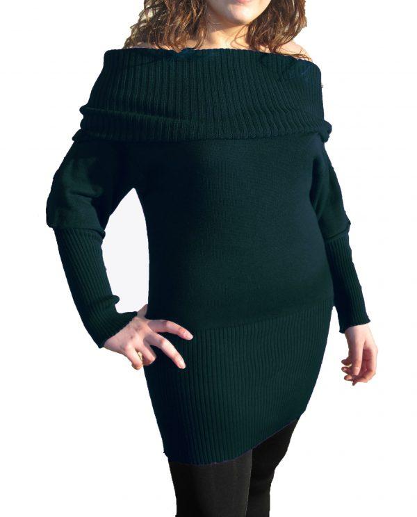 Vestito Petrolio Scuro - Dark Sea Green Dress