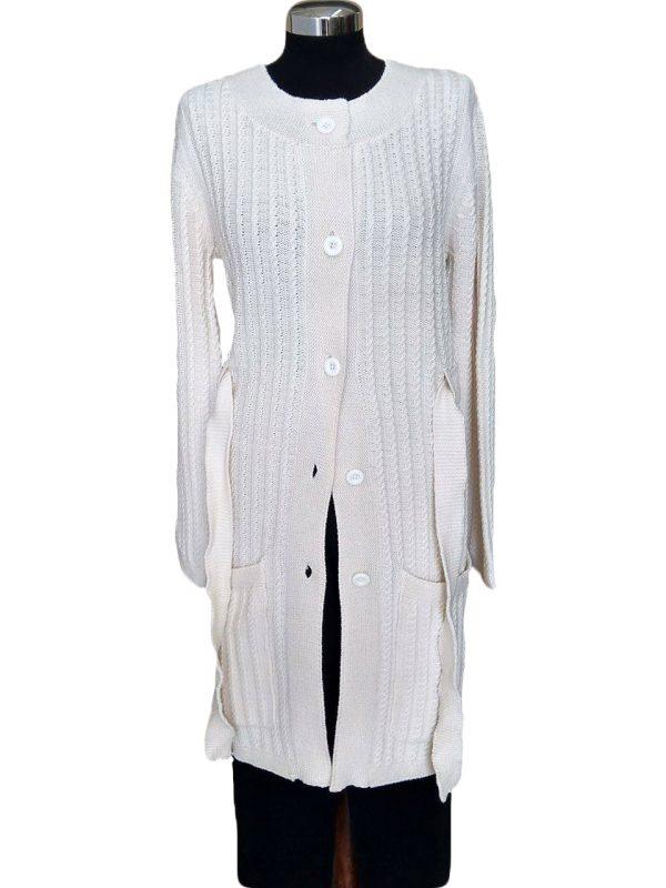 cappotto a trecce in maglia - coat with braids