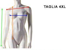 Taglia 4XL Donna - Size 20 Woman