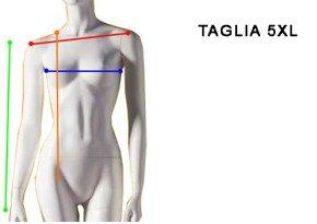 Misure Maglia Donna 5XL - Maglia Made in Italy