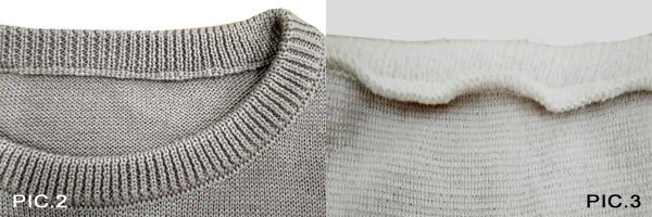 Pic2: Collo Cucito a Rimaglio Pic3: Collo a Taglia e Cuci - Pic2: Round Neck with Link Seam Pic 3: Round Neck withCut and Sew Machine