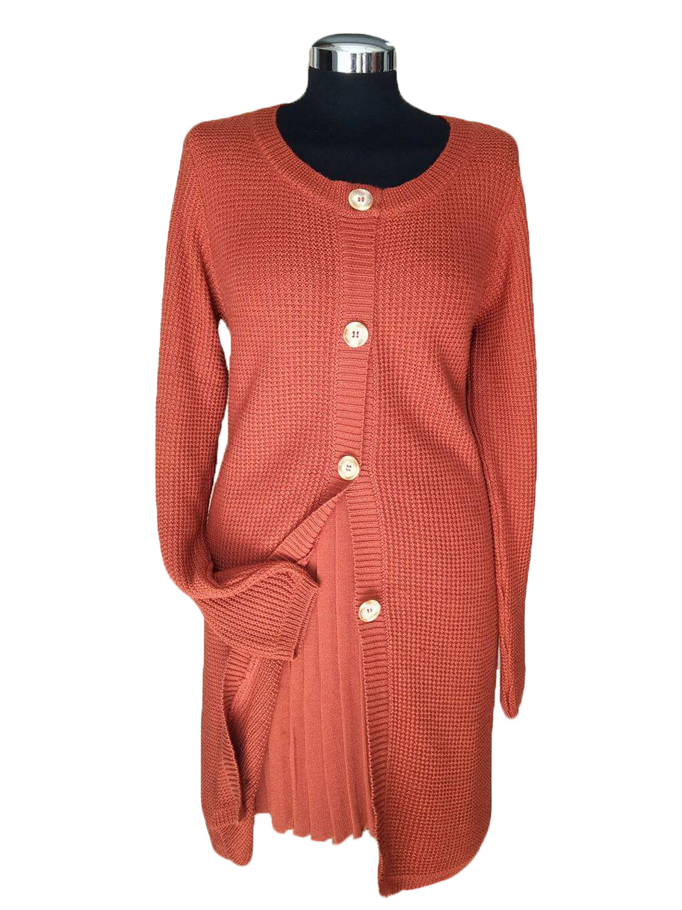 Cardigan link lungo con bottoni - long cardigan with buttons