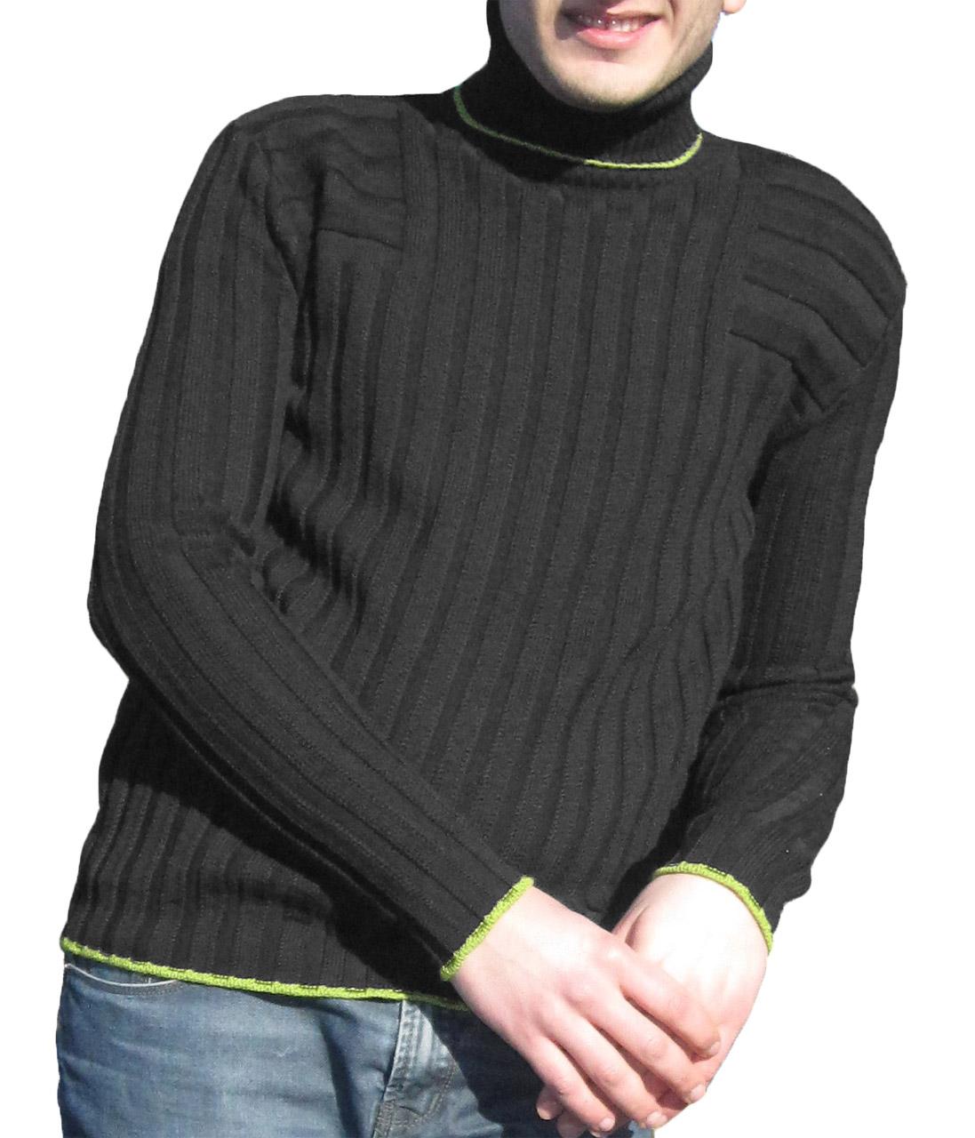 Maglia a Coste 6x6 Collo Alto Grey- Sweater with Ribbon 6x6 Turtleneck Grey