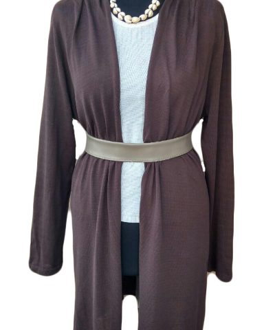 Giacca marrone di cotone - Brown Cotton Cardigan