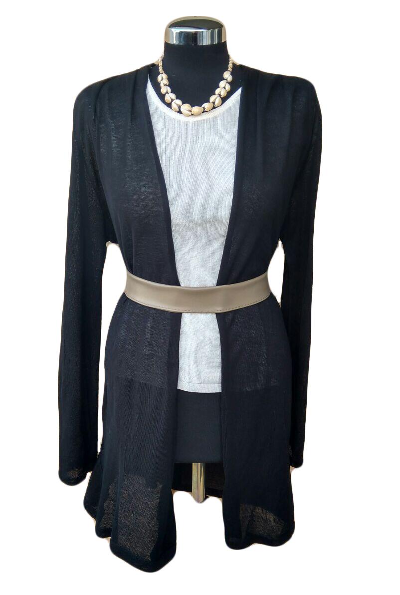 Giacca nera di cotone - Black Cotton Cardigan