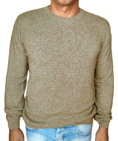 maglia in cachemire giro beige - sweater in cashmere round neck beige