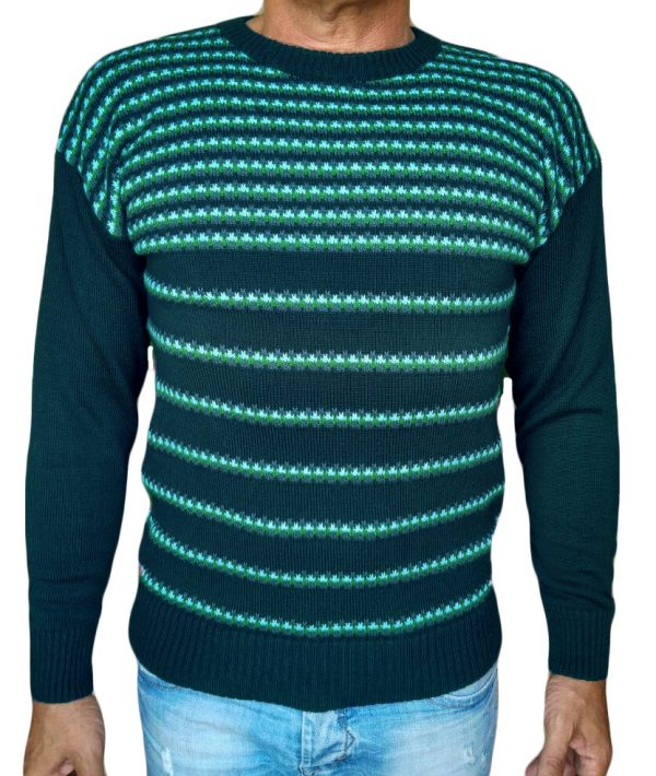 Maglia paricollo jacquard 47 - sweater round neck jacquar 47 sea green