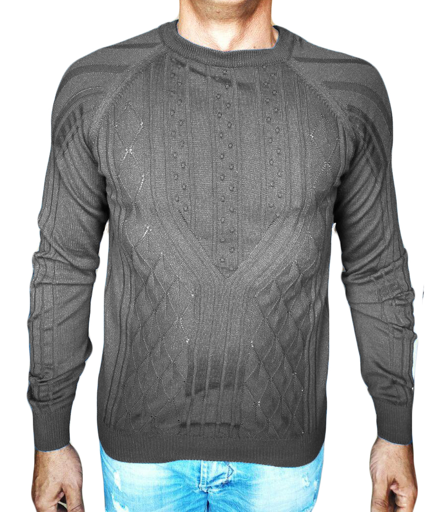 Maglia a Rombi con Noccioline - sweater with nuts-knit grey