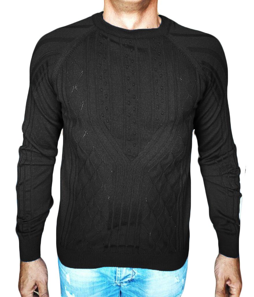 maglia noccioline nero - sweater with nuts-knit black
