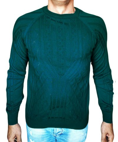 Maglia a Rombi con Noccioline - sweater with nuts-knit teal