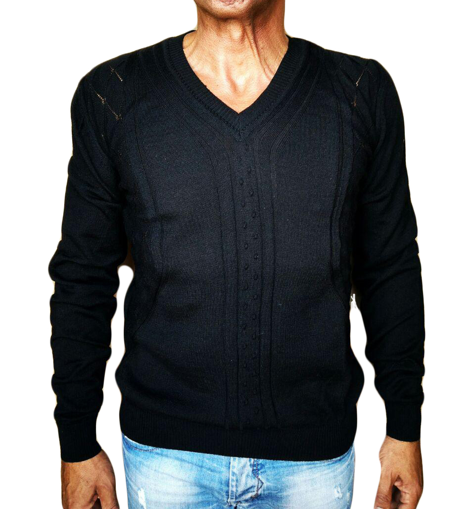 Maglia Punta con Noccioline - sweater with nuts-knit black