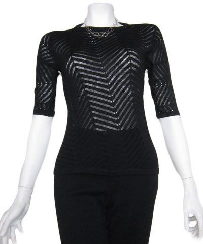Maglia Giro con Traforo a Resche - Sweater Wotk 47