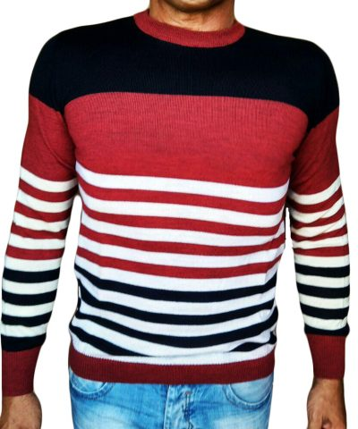Maglia Girocollo Rigata - Sweater with rows Red