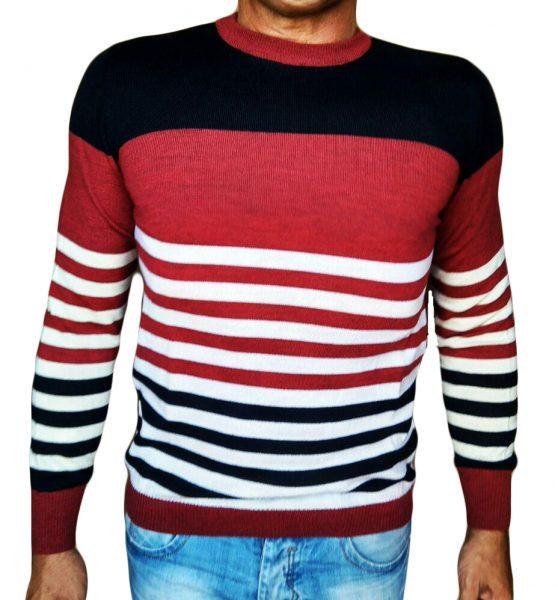 Maglia Girocollo Rigata - Sweater with rows Red