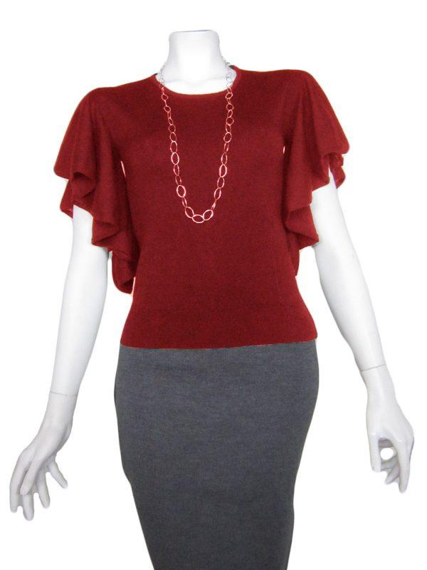 Maglia con Rouge Paricollo - Rosso