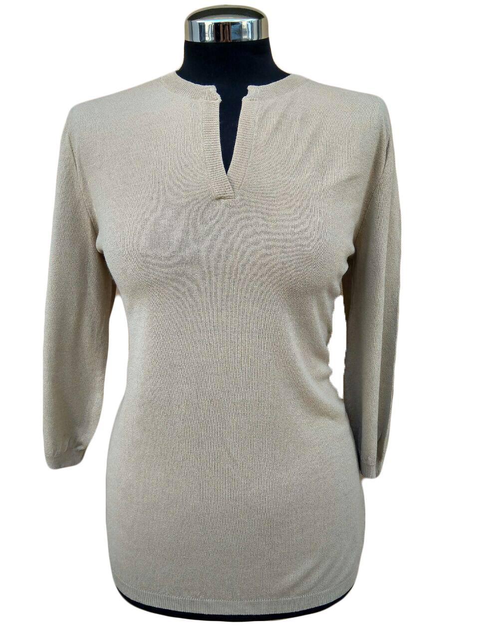 Maglia Serafino Beige - Beige Seraphine Sweater
