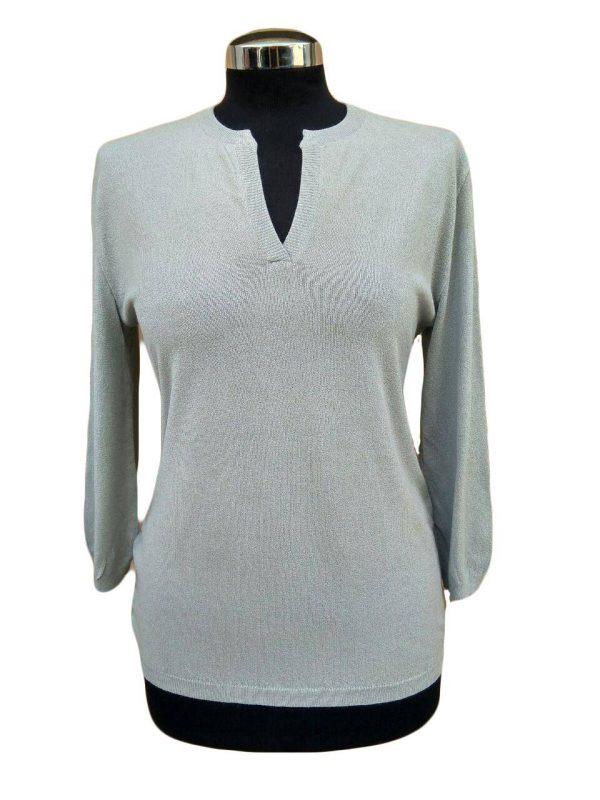 Maglia Serafino Grigia - Grey Seraphine Sweater