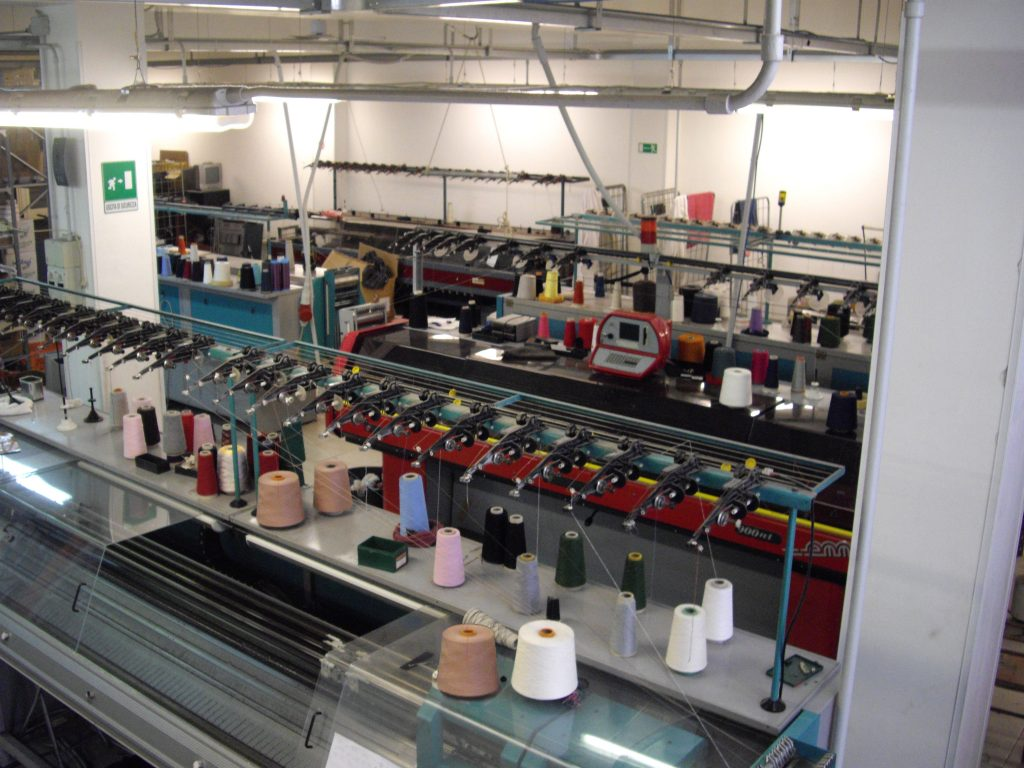 knitwear factory work- machines