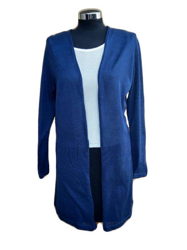 Spolverino Blu di Cotone - Cotton Blue Duster Cardigan