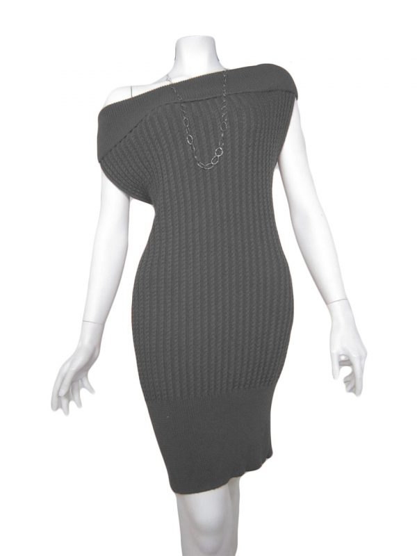 knit dress brainding grey