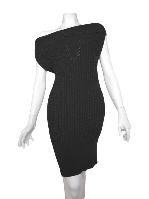 knit dress brainding black