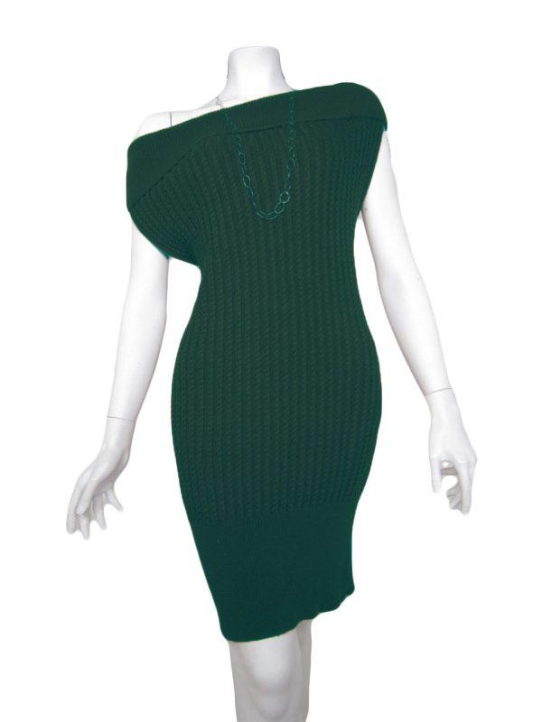 knit dress brainding green