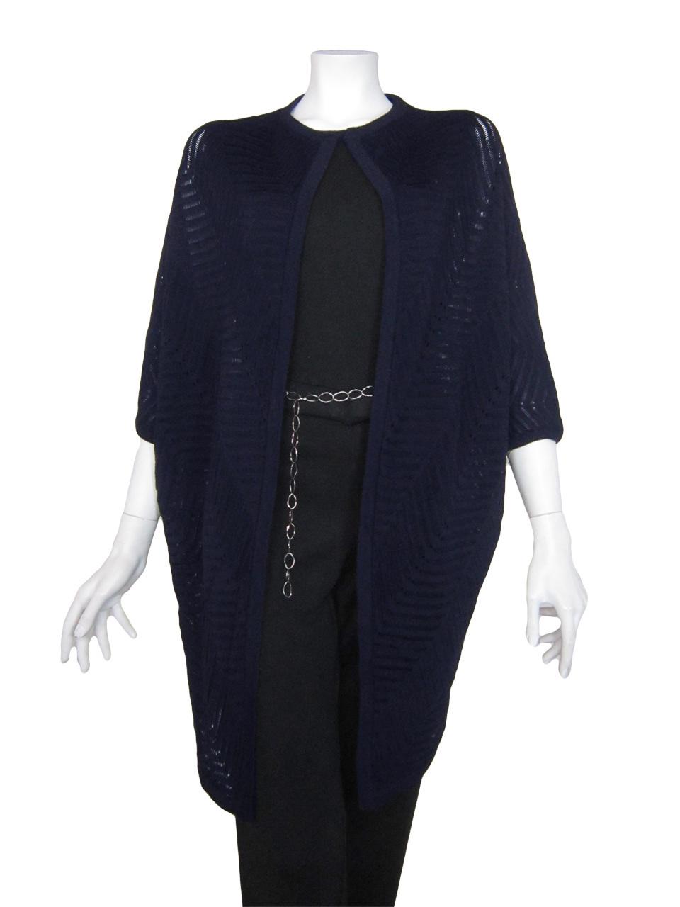 Kimono Jacket with Work 46 - Blue