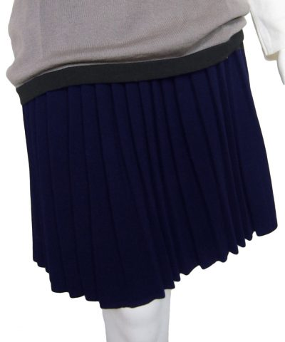 Pleated Skirt in United Knit Point - Blue