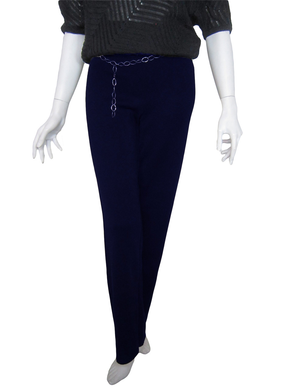 Palazzo Pants in Milano Point Blue