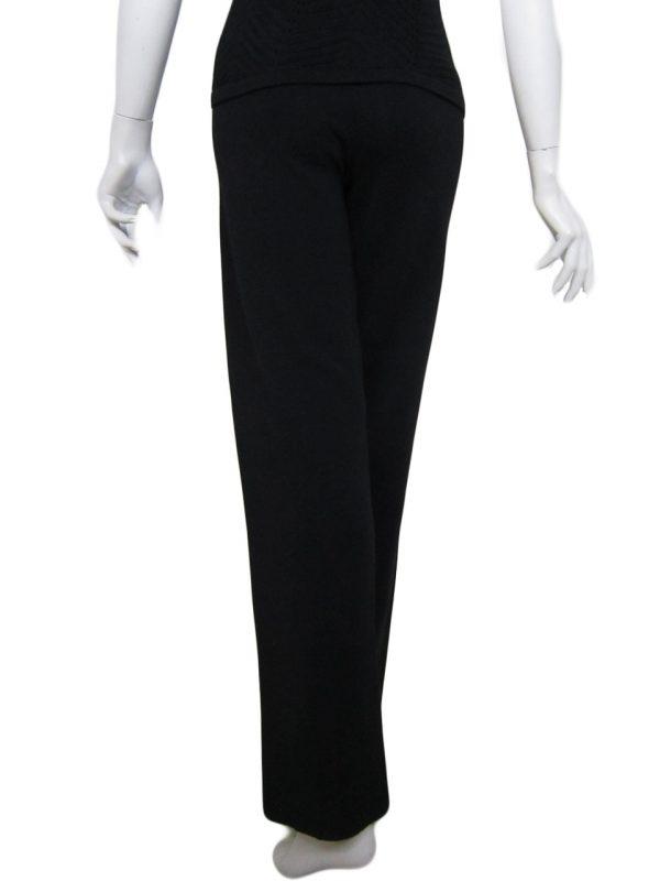 pantalone palazzo in maglia Stoffa